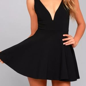 Lulu's Black Skort Dress